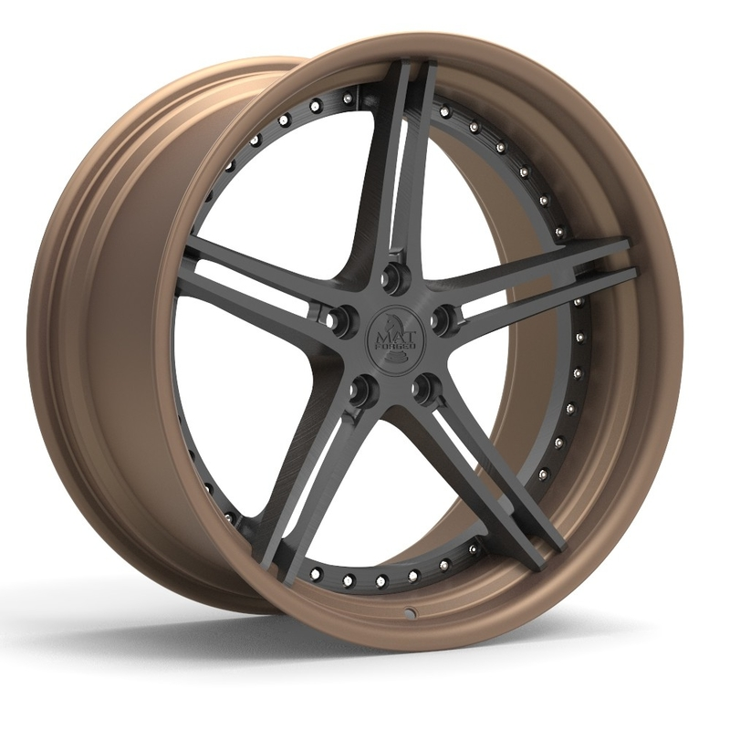 Bronze Machined A6061 T6 1-Piece Forged Wheels For BMW 730