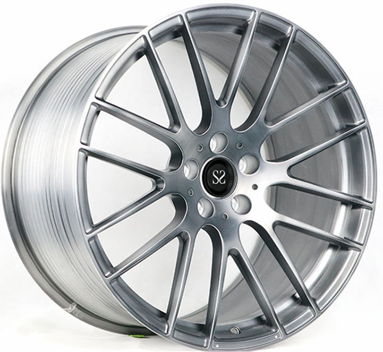 "#SSEM1007 Custom Gloss Black Brush 1- piece Forged Wheels  21"" Forged Rims For Mercedes - Benz AMG S63"